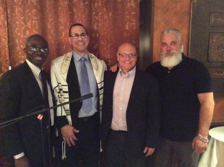Shelove Tilus, Vincent DiBrico, Pastor Michael Cassara, Jeff McLary